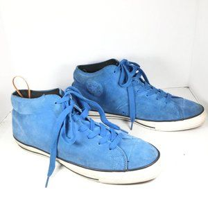Converse Leather High Top Sneakers Blue Size 13